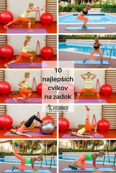 10x cviky na zadok Glutes, Health Fitness, Workout, Vegetables, Sexy, Yoga, Adidas, Diet, Work Out