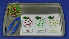 childcareland.com - Early Learning Activities For Pre-K and Kindergarten: Fine motor and sorting