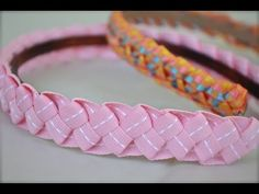 ▶ How to make ribbon headbands for little girls | Nik Scott - YouTube