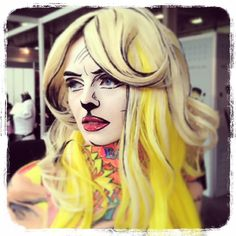 Pop Art Makeup by Karla Powell- UK Makeup Artist for Crown Brushes, IMATS London 2013