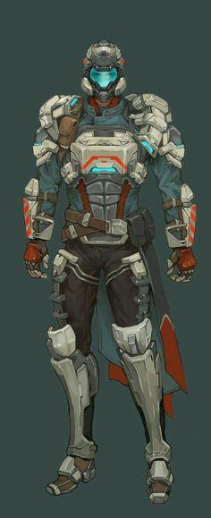 character design variation , ji yeun KIm on ArtStation Futuristic Armour, Futuristic Art, Character Concept, Character Art, Character Design, Armor Concept, Concept Art, Combat Armor, Sci Fi Armor