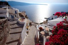 Streets of Oia Santorini Island - Greece