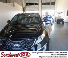 Happy Anniversary to Bou Young Kwon on your 2013 Kia Sportage from Salvador Mercado and everyone at Southwest Kia Dallas!