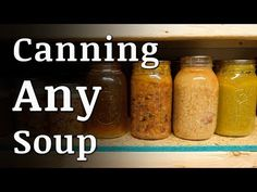 Step-by-step instructions on HOW TO CAN soup. Canned soup will save money on groceries and can be used to make quick meals. Canning Soup Recipes, Pressure Canning Recipes, Canning Tips, Pressure Cooker Recipes, Pressure Cooking, Canning Food Preservation, Preserving Food, Preservation Hall, Prepper Food