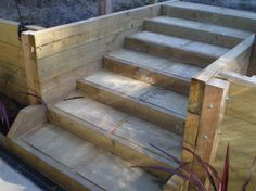 6 weeks to build this solid timber stairs!!! Built In Robes, Timber Stair, Large Backyard, Ceiling Fan, Property For Sale, Landscaping, Stairs, Outside Stairs, Big Backyard