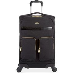 Kipling Ronan Carry On Spinner Suitcase (345 AUD) ❤ liked on Polyvore featuring bags, luggage and black patent combo