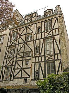 Facade. Latin Quarter, Paris