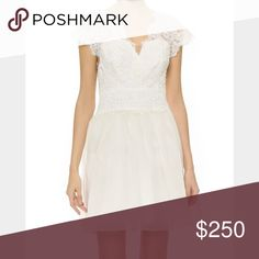 Marchesa Notte size 4 dress, tags attached Lace bodice dress, size 4, brand new tags and beads attached, full price retail value $895 marchesa notte Dresses Wedding