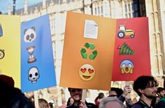 http://dothegreenthing.com/blog/earthmojis-protest-placards-for-the-world/