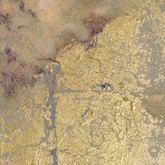Gold Flower Abstract Art Print