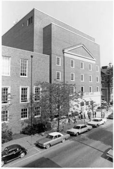 Radio TV and Communications Building bird's-eye view, 1970 :: Ohio University Archives.