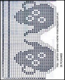 - Клуб рукоделия - Страна Мам - Patterns for crochet - Craft Club-Country Moms에 대한 이미지 검색결과 Granny Square Crochet Pattern, Crochet Borders, Crochet Patterns, Filet Crochet Charts, Crochet Stitches, Cross Stitch Borders, Cross Stitch Patterns, Love Crochet, Crochet Lace