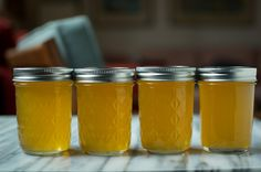 Meyer Lemon Syrup make lemonade for one with it. Could also use it to flavor yogurt or use in hot tea to sweeten and add lemon. Canning Food Preservation, Preserving Food, Chutney, Meyer Lemon Recipes, Lemon Syrup, Lemon Curd, Home Canning, Whiskey Cocktails, Meals In A Jar