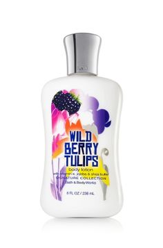 Wild Berry Tulips Body Lotion - Leave your skin feeling soft, smooth and nourished with this flirtatious blend of red raspberry sheer honeysuckle and pink tulips. <3  #LUVBBW