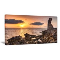 """DesignArt Historic Ruins at Sunset Africa Photographic Print on Wrapped Canvas Size: 20"""" H x 40"""" W x 1"""" D"""