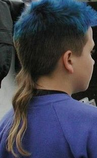 The Rat Tail. The one fad that I hope never returns. My Childhood Memories, Best Memories, Rat Tail Haircut, Tail Hairstyle, Mullet Hairstyle, Mullet Haircut, Little Miss Momma, Nostalgia, Bad Fashion