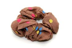 Coloured Polka Dot Scrunchie Taupe-Tegen Accessories-Tegen Accessories  - 1