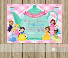 Princess Tea Party Invitation Birthday Invite by SteelCityMagnolia