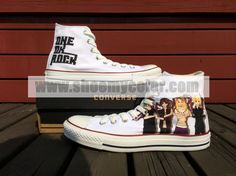 One Ok Rock Converse Canvas White High Top Hand Painted Shoes