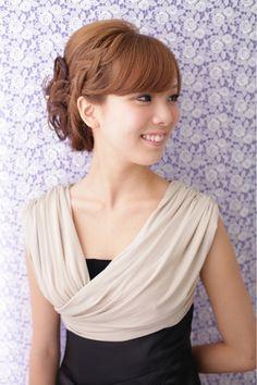 ichikoのヘアスタイル | 【結婚式】 編み込みカールアップ ≪ichiko≫ | 大阪府・北新地・堂島の美容室 | Rasysa(らしさ)