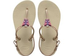 Kids Havaianas | The Freedom Sandal features colorful embellishment and an adjustable metallic slingback strap for a fun, fashionable look and secure fit. The injected, molded sole provides added comfort with our signature textured footbed.  Please see size chart.