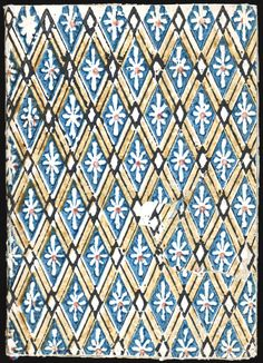 Design - Paper - Pattern - Blue diamond flower