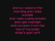 What's Non Blondes [Lyrics On Screen]. I pray every single day, for a revolution. Blonde Album, The Housemartins, Non Blondes, I Scream, News Channels, Best Songs, Music Lyrics, Karaoke, Music Bands