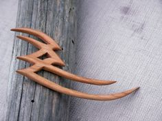 Tribal Wooden hair fork by PaZaBri on Etsy
