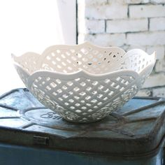HandCarved Porcelain Fruit Bowl by isabelleabramson on Etsy, $1400.00