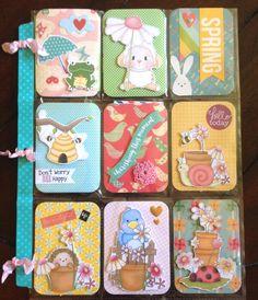 Pocket Letters ❤ Spring themed pocket letter Pocket Pal, Pocket Books, Atc Cards, Journal Cards, Scrapbook Journal, Scrapbook Supplies, Snail Mail Pen Pals, Pocket Envelopes, Baby Boy Scrapbook