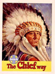 The Chief Way; Santa Fe, New Mexico; 1950 - Lmtd. Ed. Fine                      Art Giclee Print