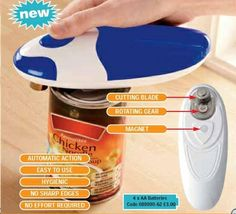 Battery operated can opener