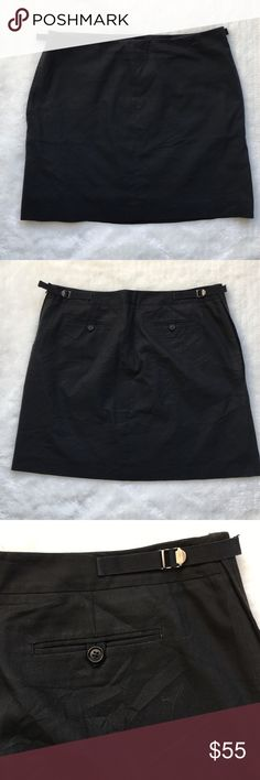 """Helmut Lang Black Mini Skirt size 46 / 14 US Preowned authentic Helmut Lang Black Mini Skirt size 46 / 14 US.  Lightly worn. Waist measures 17"""" inches. Skirt is 17"""" inches long. Has pockets on both sides. Please look at pictures for better reference. Happy shopping!! Helmut Lang Skirts Mini"""