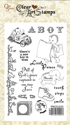 Clear stamps, Baby Boy, 50007