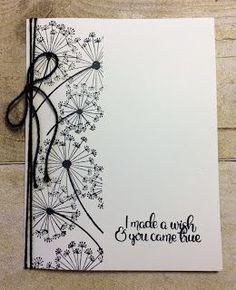 easy card making Dandelion Wishes karten Handmade Birthday Cards, Greeting Cards Handmade, Cute Cards, Diy Cards, Diy Creative Cards, Tarjetas Stampin Up, Dandelion Wish, Dandelion Art, Friendship Cards