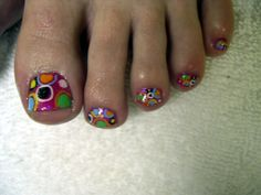 toe nail designs | funky dot toes - Nail Art Archive - Style - NAILS Magazine