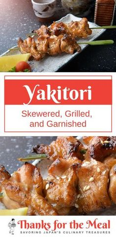Japanese grilled chicken recipe - learn how to make this amazing yakitori for your family dinner tonight! Fun Easy Recipes, Best Dinner Recipes, Easy Meals, Family Recipes, Healthy Meal Prep, Healthy Snacks, Healthy Recipes, Best Food Ever, Korean Recipes