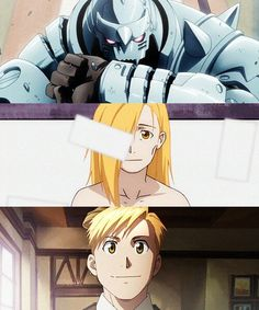 The three faces of Alphonse Elric