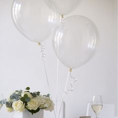 Crystal Clear Wedding Balloons; actually kind of nice, and not tacky