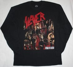 SLAYER REIGN IN BLOOD'86   NEW BLACK LONG SLEEVE T-SHIRT