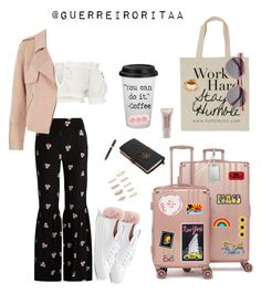 A fashion look from March 2018 featuring crop tops, pink moto jackets and high-waisted trousers. Browse and shop related looks. Ready To Go, Laura Mercier, Rebecca Minkoff, River Island, Forever 21, Fashion Looks, Crop Tops, Chic, Polyvore