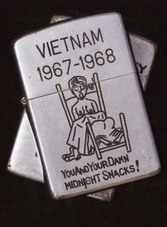 Vietnam Zippos covers the Zippo phenomenom during the Vietnam War. These Zippos cover all life's important topics. I like them a lot.
