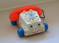 Vintage Fisher Price Toy Telephone by SheAdoresVintage on Etsy