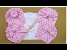 HOW TO MAKE A TURBAN BASE FOR ALL BABY TURBANS - YouTube Baby Sewing Projects, Sewing For Kids, Baby Crafts To Make, Turban Headbands, Diy Baby Headbands, Diy Hat, Baby Hats, Baby Clothes Patterns, Baby Patterns