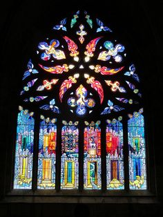 Stained glass window, Linlithgow Cathedral
