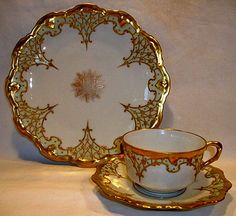 Limoges Porcelain from France — Cup and Saucer !