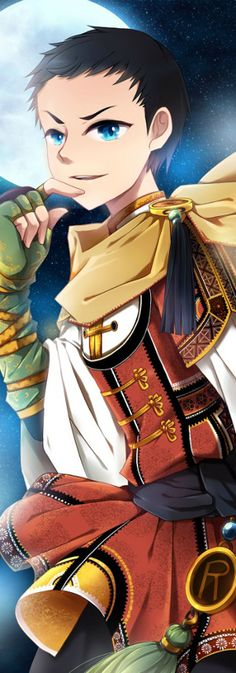 Oriental Style Damian Wayne aka Robin>>>> SQUEEEEE! Another oriental style hero! I love these things!