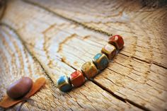 Ceramic Beads Necklace Long Beaded Fall Colors by letemendia, $25.00