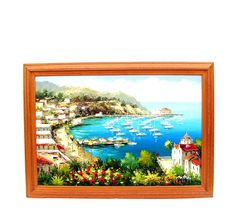 Vintage Oil Painting Catalina Island Nautical by OceansideCastle, $269.99