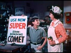 Comet Commercial with Josephine the Plumber and a very young Robbie Benson